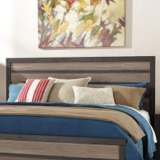 Rustic King Headboard Rustic King Panel Headboard With Two Tone Plank Look By Signature