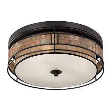 copper flush mount light shop quoizel laguna 16 in w renaissance copper flush mount light at