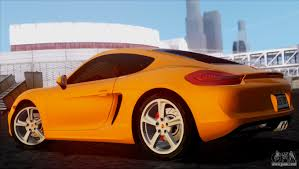 porsche cayman orange porsche cayman s 2014 for gta san andreas