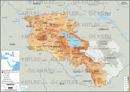 armenia on world map geoatlas countries armenia map city illustrator fully