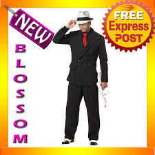 c631 mens mob boss 1920s gangster pinstripes halloween fancy dress