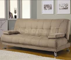 modern furniture in los angeles ca 346 45 beige microfiber convertible sofa bed with removable