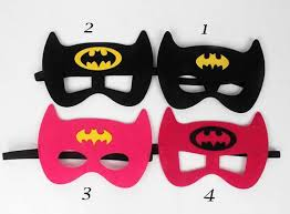 party mask 1 batman mask batgirl mask batman birthday batman party favors