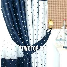 Navy Blue And White Curtains Blue And White Curtains White Sheer Curtains With Blue Lines