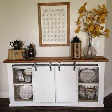 diy white buffet sliding door console project tutorial build your