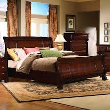 Cherry Sleigh Bed Vaughan Furniture Georgetown Queen Size Traditional Sleigh Bed