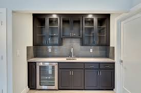 Kitchen Bar Cabinets Basement Bar Kitchen With A Wine Bar White Quartz Counters And