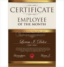 certificate template employee of the month royalty free cliparts