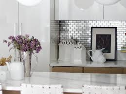 Aluminum Backsplash Kitchen Kitchen Handsome Aspect Peel And Stick Backsplash High Tech Sheen