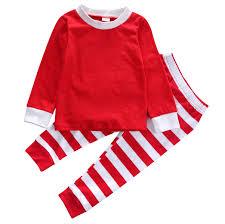 2pcs toddler baby boy striped pajamas