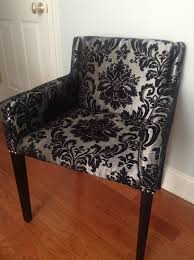 damask chair modern accent chair black silver damask professionally re