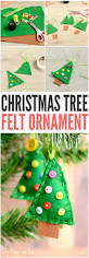 felt christmas tree ornament easy peasy and fun