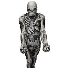 Scary Skeleton Halloween Costume by Skull U0026 Bones Morphsuit Morph Costumes Uk