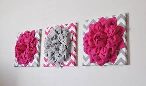 Gray And Pink Nursery Decor by Custom Nursery Decor Flower Wall Art Pink And Grey