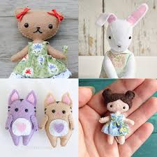felt sewing patterns make your own stuffed animals dolls