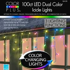 color switch plus dual color changing led icicle lights