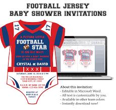 microsoft word football onesie invitation template my diy designs