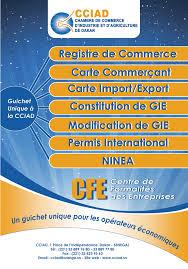 chambre agriculture 33 formalités du cfe cciad chambre de commerce d industrie et d