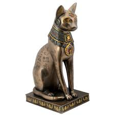 egyptian cat goddess bast or bastet with egyptian symbols and bastet bronze hieroglyphic cat statue at labeshops home decor fashion and jewelry