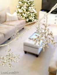livelovediy easy christmas crafts how to make beaded snowflake