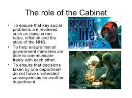 Role Of Cabinet Members The Main Roles In Government