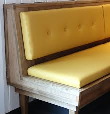Black Banquette Furniture Wooden Banquette Bench With Yellow Seat And White Wall