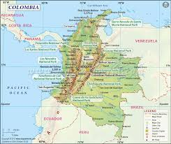 South America Map Countries by Colombia Map Colombia Pinterest Colombia Map Colombia And