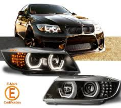 bmw headlights bmw e90 e91 3ers m4 dtm angel eyes projector headlights