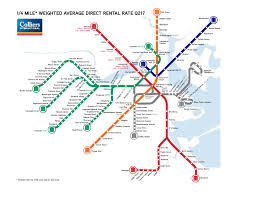 Red Line Mbta Map by Charting Office Rents From A Transit Perspective Banker U0026 Tradesman
