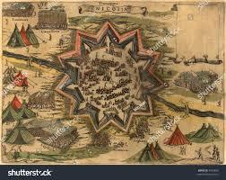 Ancient Map Cyprus Ancient Map Nicosia City War Stock Illustration 4955899