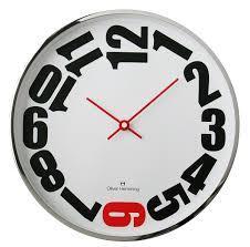Wall Clocks Mesmerizing Black Kitchen Wall Clock 16 Kikkerland Retro Kitchen