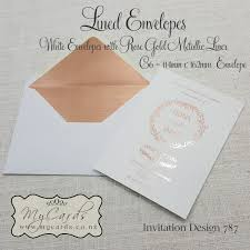 Foil Wedding Invitations Rose Gold Foil Wedding Invitation Design 787 Mycards