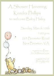 winnie the pooh baby shower classic winnie the pooh baby shower invitations theruntime