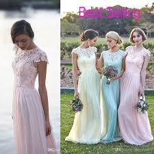 lace chiffon maid of honor dresses real image plus size cap sleeve