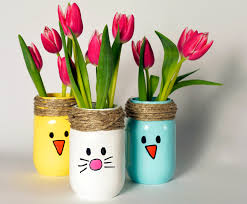Easter Decorations For Cheap by Diy Recycled Easter Bunny Vases Easter Decor Easter Crafts And