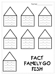 fact family worksheets 1st grade kiddo shelter