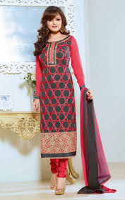 Pink Colour Combination Dresses by Long Straight Salwar Kameez For All Occasions Mruga Fashion