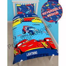 Disney Cars Bedroom Set by Cars 3 Lightning Kids Childrens Double Duvet Quilt Cover Disney