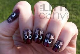 reindeer nail art the little canvas