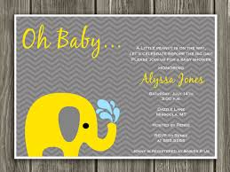 elephant baby shower invitations yellow and gray elephant baby shower invitation free thank you
