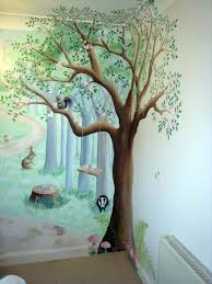 woodland nursery mural fairy fun and frolics classroom