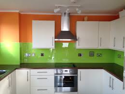 orange u0026 lime green kitchen glass splashback by creoglass design