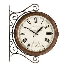 enchanting garden wall clock thermometer 83 atomic wall clock with