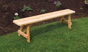 amish cedar wood traditional backless outdoor bench backless
