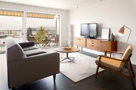Decor With Accent Mid Century Modern Media Console Living Room Contemporary With