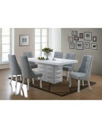 6 pc dinette kitchen dining room set table w 4 wood chair spring shopping s hottest deal on 7 piece white wood modern