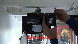 battery operated garage door opener liftmaster 8550 garage door opener battery backup youtube