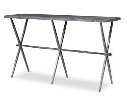 Steel Console Table Faux Marble Iron Console Table Mecox Gardens
