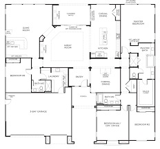 Floor Plans For One Story Homes Homesite 14 Olive Hill San Diego Pardee Homes