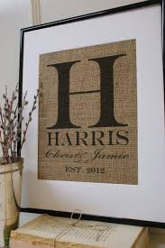 unique monogrammed wedding gifts personalized burlap wedding gift great gift idea u can print on